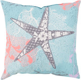 Colorful Under the Sea Starfish Outdoor Pillow