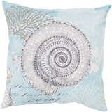 Colorful Under the Sea Shell Outdoor Pillow