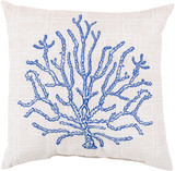 Key Largo Tropical Blue Coral Indoor-Outdoor Pillow