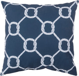 Mariner Navy Knots Indoor-Outdoor Pillow