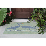 Blue Heron Lake Accent Rug front porch view