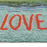 Live Love Lake Water Accent Rug  close up 2
