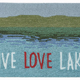 Live Love Lake Water Accent Rug close up 1