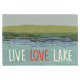 Live Love Lake Water Accent Rug