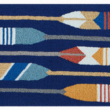 Striped Paddles Accent Rug close up