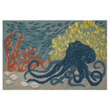 Under the Sea Octopus Accent Rug