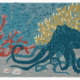 Under the Sea Octopus Accent Rug close up
