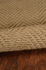 Natural Herringbone Design Jute Area Rug close up 2