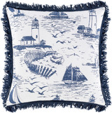 Castaway Nautical Fringed 22 x 22 Pillow