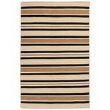 Cabana Black and Sisal Striped Rug
