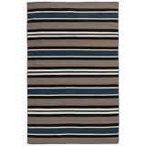 Cabana Navy Blues Striped Rug