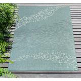 Aqua School of Fish Carmel Rug deck view