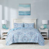 Summer Breeze 3-Piece Quilted Coverlet Set - Queen Size view 1