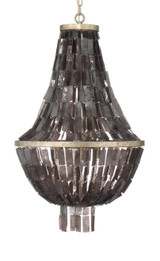 Capsize Chandelier in Black Mother of Pearl