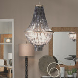Capsize Chandelier in Black Mother of Pearl room view
