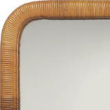 Kai Rattan Wrapped Mirror close up edge
