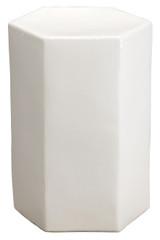 Large Porto Side Table in White Ceramic