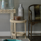 Bravo Accent Table in White Rope room view