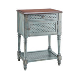 Harstene Accent Table in Moonstone Blue