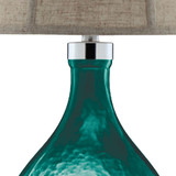 Cardiff by the Sea Glass Table Lamp close up 2