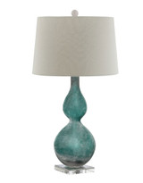 Mermaid Cove Glass Table Lamp