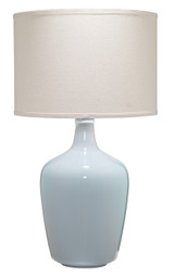 Plum Dove Grey Jar Table Lamp
