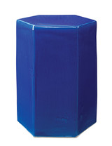 Large Porto Side Table in Cobalt Blue Ceramic