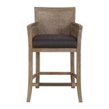 Encore Counter Stool in Grey front view