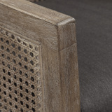 Encore Counter Stool in Grey close up cane