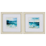 Ocean Break Abstract Prints - Set of Two