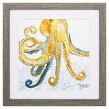 Sea Creature Golden Octopus Print