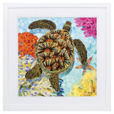 Bright Tropic Sea Turtle Framed Print