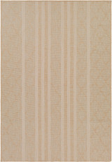 Copy of Malibu Boho Khaki Stripes Rug main image
