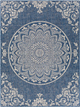 Malibu Denim Blue Medallion Rug
