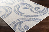 Malibu Blue Wave Swirls Rug floor image