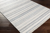 Azores Sea Striped Woven Rug floor view