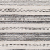 Azores Charcoal and Cream Striped Woven Rug close up pattern