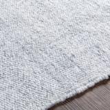 Azores Vapor Grey Braided Woven Rug edge