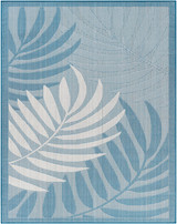 Montego Bay Blue Palms Rug main image