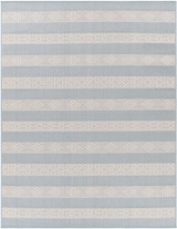 Montego Bay Light Blue Stripes Rug