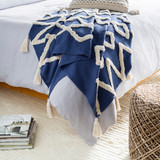 Deep Blue LaCasa Tufted Beach Throw