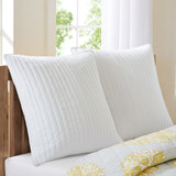 Camila Quilted White Euro Sham