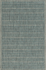 Teal Horizon Casual Area Rug