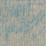 Teal Cloud View Casual Area Rug close up view