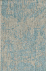Teal Cloud View Casual Area Rug