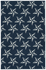 Navy Stars Indoor-Outdoor Area Rug