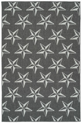 Grey Stars Indoor-Outdoor Area Rug