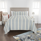Seafaring Striped 3-Piece Queen Size Quilted Set
