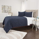 Simpson Indigo Blue 3-Piece Quilted Set