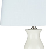 Devon By the Sea White Table Lamp top and shade